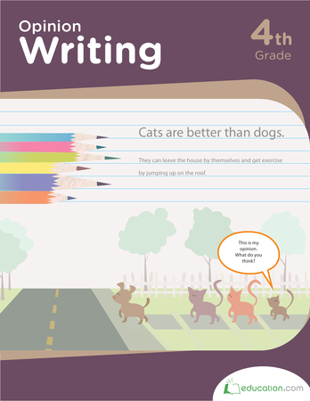Fourth Grade Reading & Writing Workbooks: Opinion Writing