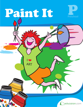 Preschool Arts & crafts Workbooks: Paint It