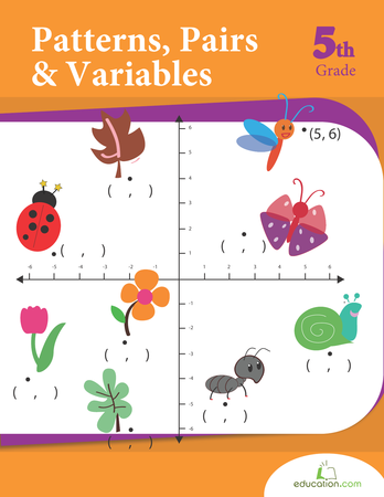 Fifth Grade Math Workbooks: Patterns, Pairs and Variables
