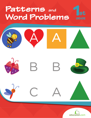 First Grade Math Workbooks: Patterns and Word Problems