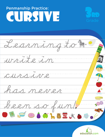 Third Grade Reading & Writing Workbooks: Penmanship Practice: Cursive