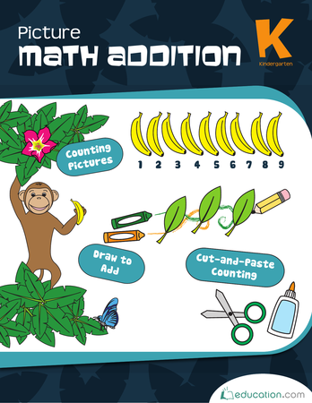 Kindergarten Math Workbooks: Picture Math Addition