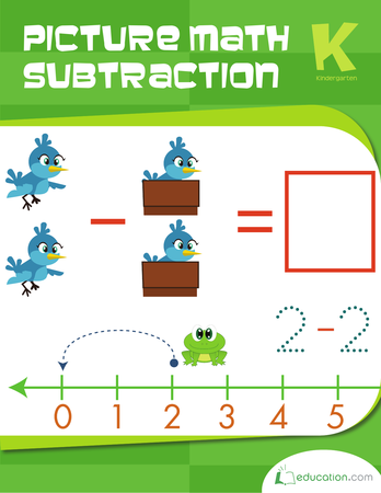 Kindergarten Math Workbooks: Picture Math Subtraction