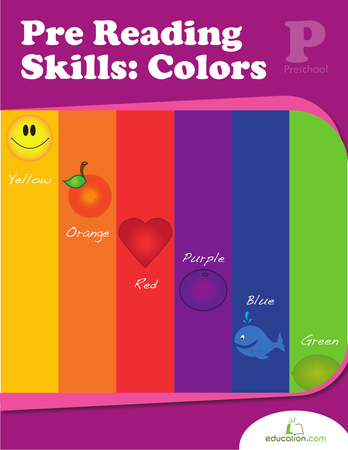 Preschool Math Workbooks: Pre-Reading Skills: Colors