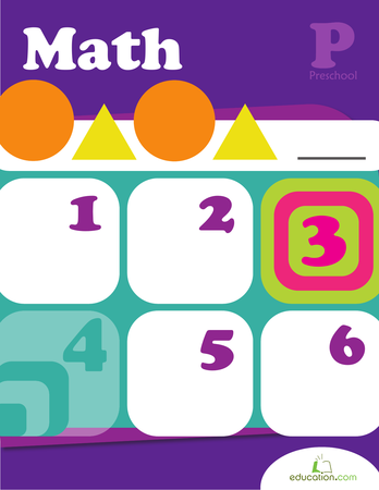 Preschool Math Workbooks: Preschool Math