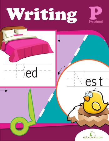 Preschool Math Workbooks: Preschool Writing