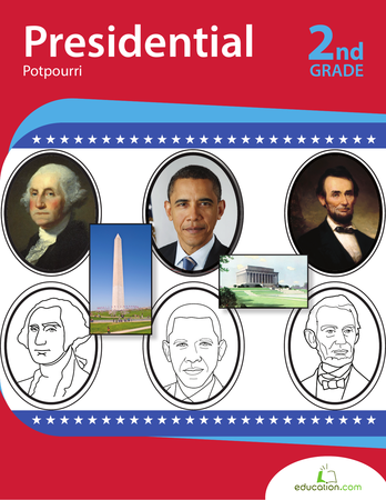 Second Grade Social Studies Workbooks: Presidential Potpourri