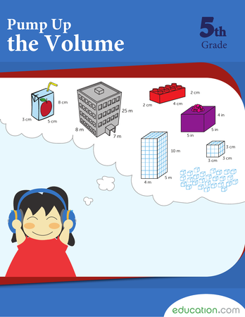 Fifth Grade Math Workbooks: Pump Up the Volume