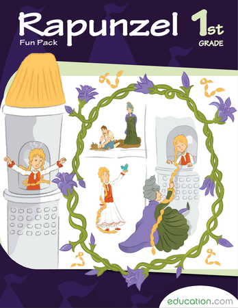 First Grade Reading & Writing Workbooks: Rapunzel Fun Pack