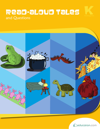 Kindergarten Reading & Writing Workbooks: Read-Aloud Tales and Questions