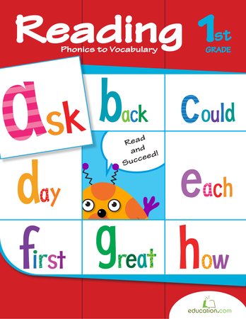 First Grade Reading & Writing Workbooks: Reading: Phonics to Vocabulary
