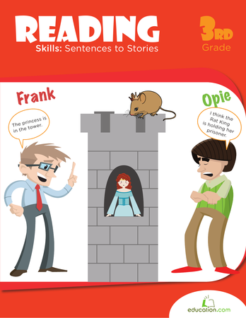 Third Grade Reading & Writing Workbooks: Reading Skills: Sentences to Stories