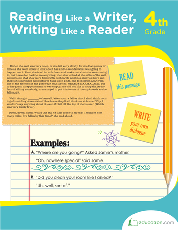 Fourth Grade Reading & Writing Workbooks: Reading Like a Writer, Writing Like a Reader