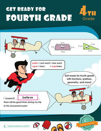 Get Ready For Fourth Grade Workbook Education