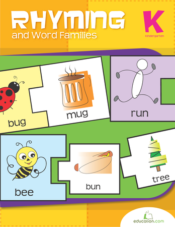 Kindergarten Reading & Writing Workbooks: Rhyming and Word Families