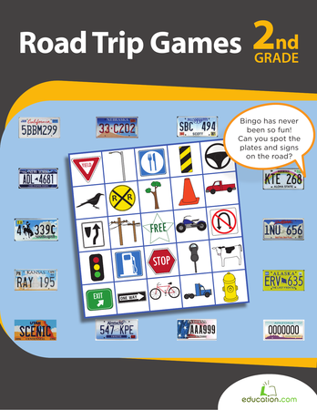 Second Grade Reading & Writing Workbooks: Road Trip Games