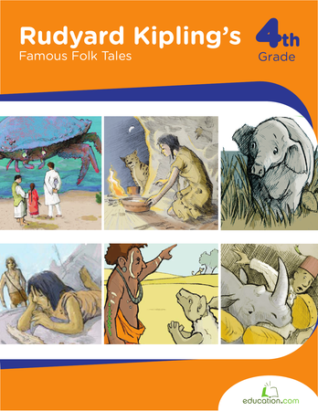 Fourth Grade Reading & Writing Workbooks: Rudyard Kipling's Famous Folk Tales
