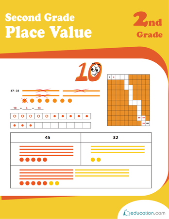 Second Grade Math Workbooks: Second Grade Place Value