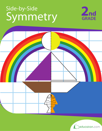 Second Grade Math Workbooks: Side-by-Side Symmetry