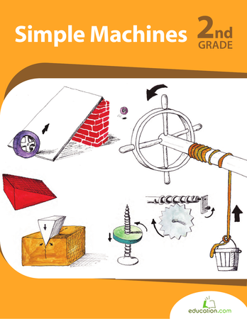 Second Grade Reading & Writing Workbooks: Simple Machines