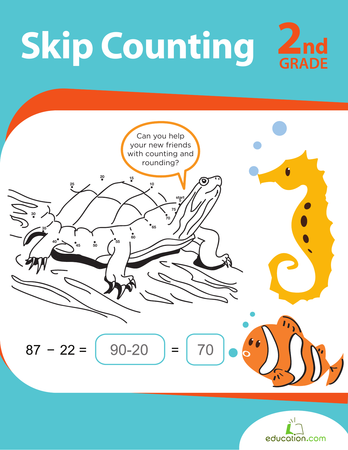 Second Grade Math Workbooks: Skip Counting
