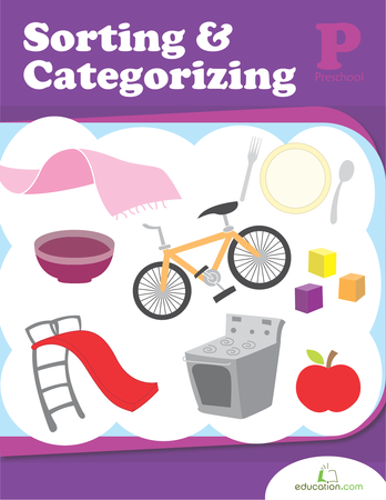 Preschool Math Workbooks: Sorting and Categorizing