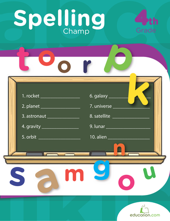 Fourth Grade Reading & Writing Workbooks: Spelling Champ
