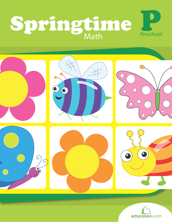 Preschool Reading & Writing Workbooks: Springtime Math