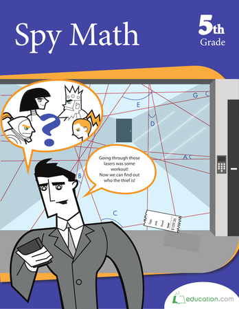 Fifth Grade Math Workbooks: Spy Math