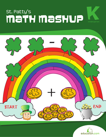 Kindergarten Math Workbooks: St. Patty's Math Mashup