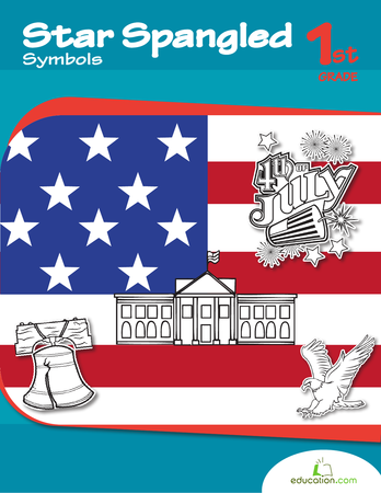 First Grade Social Studies Workbooks: Star Spangled Symbols