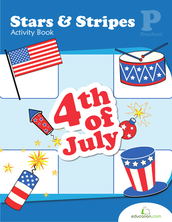 Preschool Math Workbooks: Stars & Stripes Activity Book