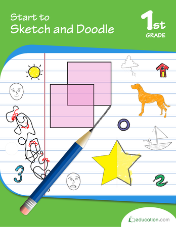 First Grade Math Workbooks: Start to Sketch and Doodle