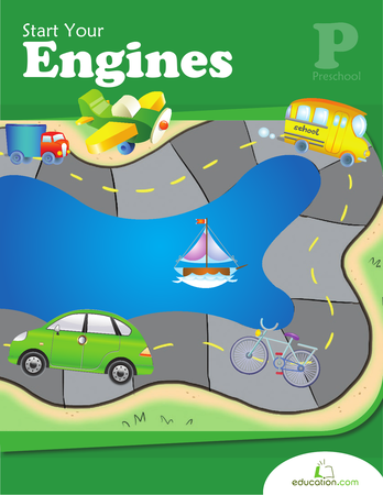 Preschool Reading & Writing Workbooks: Start Your Engines
