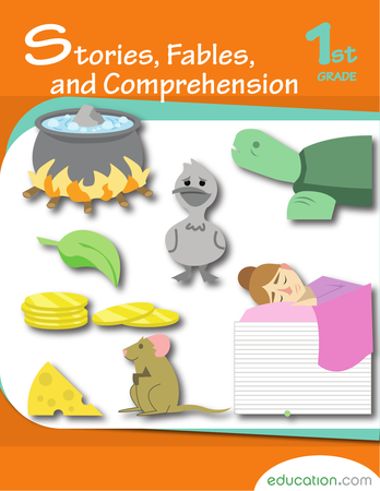 First Grade Reading & Writing Workbooks: Stories, Fables, and Comprehension
