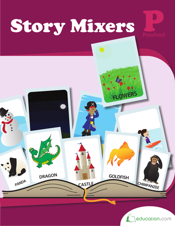 Preschool Reading & Writing Workbooks: Story Mixers