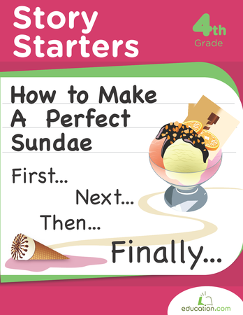 Fourth Grade Reading & Writing Workbooks: Story Starters