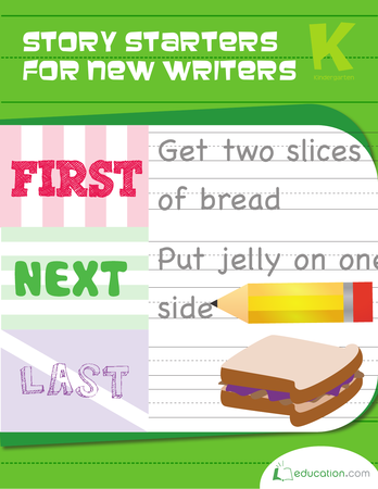 Kindergarten Reading & Writing Workbooks: Story Starters for New Writers