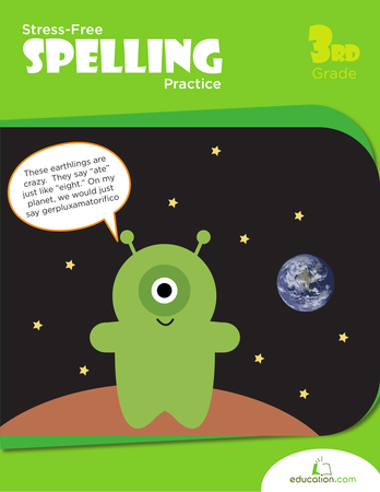 Third Grade Reading & Writing Workbooks: Stress-Free Spelling Practice