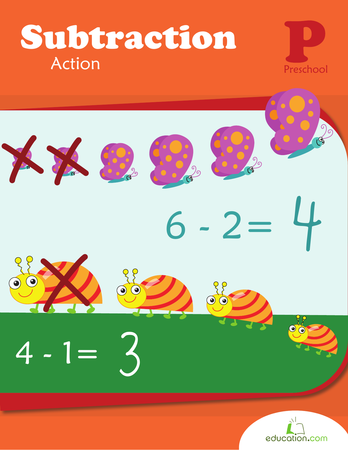 Preschool Math Workbooks: Subtraction Action