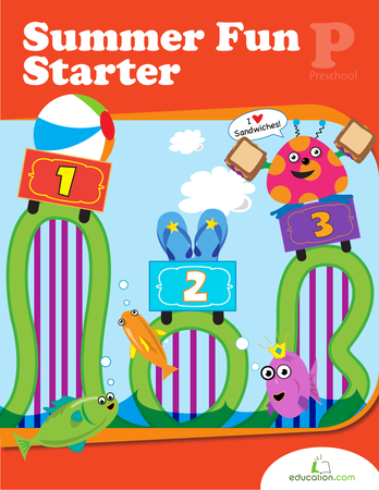 Preschool Reading & Writing Workbooks: Summer Fun Starter