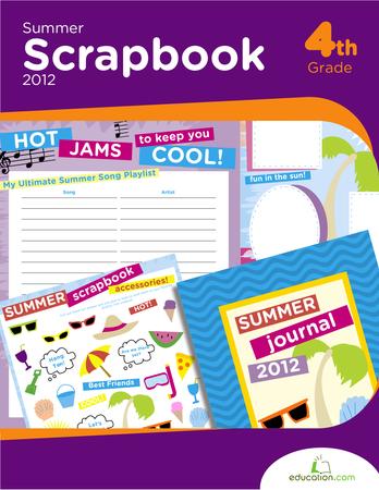 Fourth Grade Arts & crafts Workbooks: Summer Scrapbook 2012