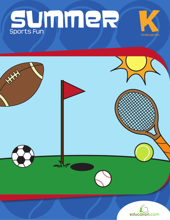 Kindergarten Math Workbooks: Summer Sports Fun