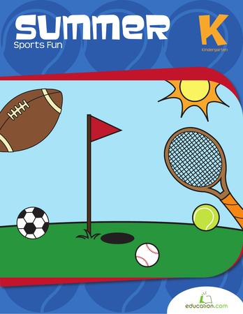 Kindergarten Reading & Writing Workbooks: Summer Sports Fun