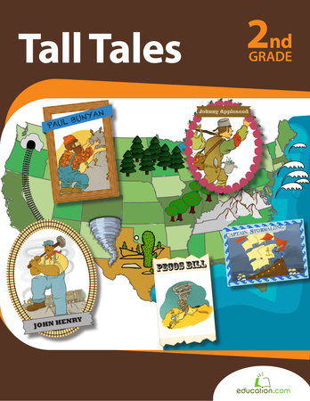 Second Grade Reading & Writing Workbooks: Tall Tales