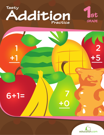 First Grade Math Workbooks: Tasty Addition Practice