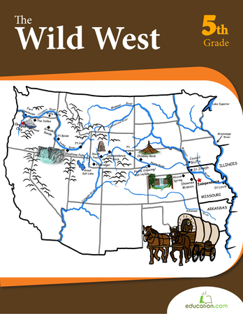 Fifth Grade Reading & Writing Workbooks: The Wild West