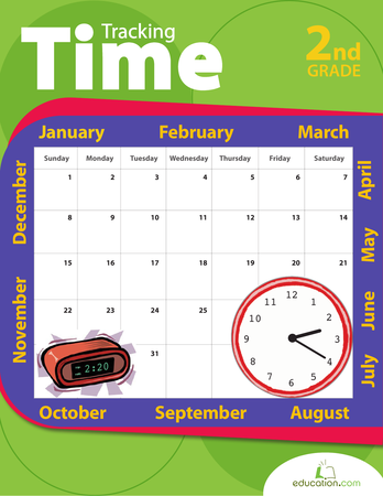 Second Grade Math Workbooks: Tracking Time