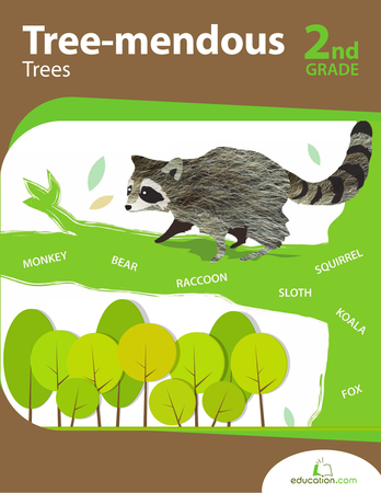 Second Grade Math Workbooks: Tree-mendous Trees