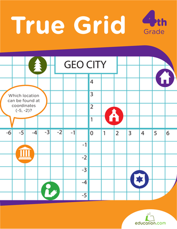 Fourth Grade Math Workbooks: True Grid